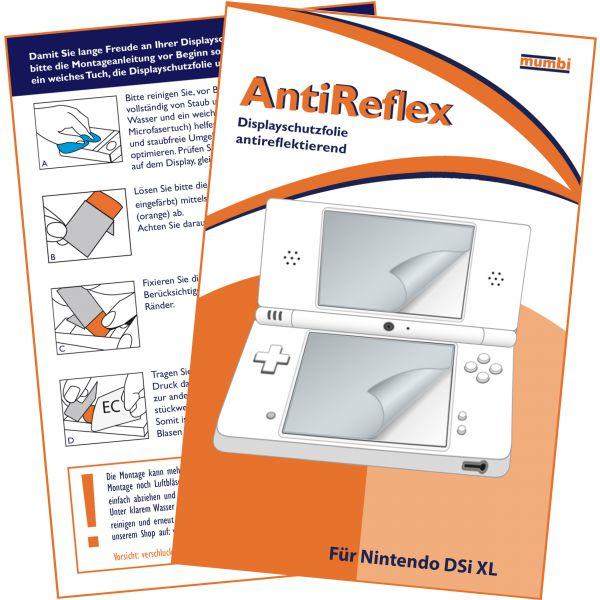 Displayschutzfolie für Bildschirm und Touchscreen AntiReflex für Nintendo DSI XL