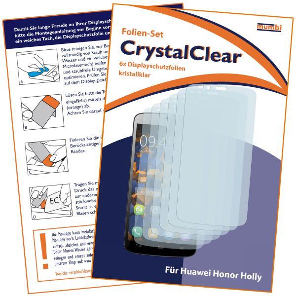 Displayschutzfolie 6 Stck. CrystalClear für Huawei Honor Holly