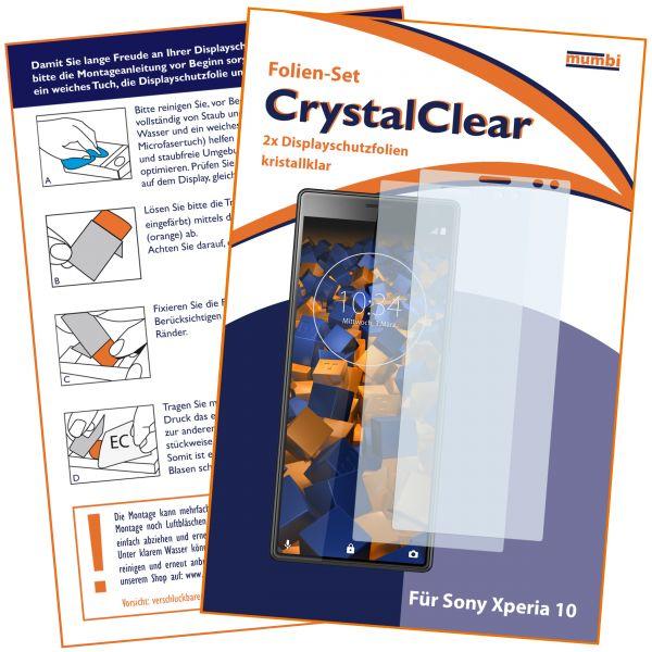 Displayschutzfolie 2 Stck. CrystalClear für Sony Xperia 10