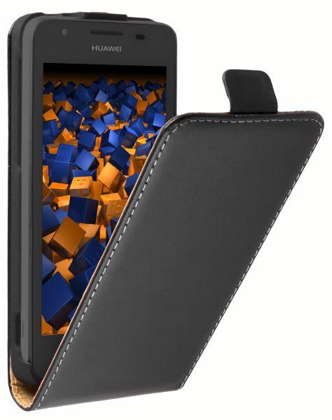 Flip Case Tasche schwarz für Huawei Ascend G525 Dual
