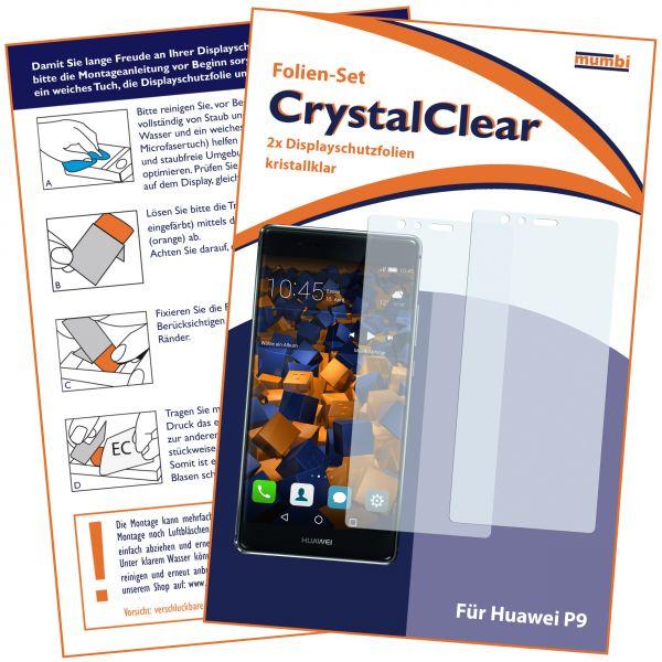 Displayschutzfolie 2 Stck. CrystalClear für Huawei P9