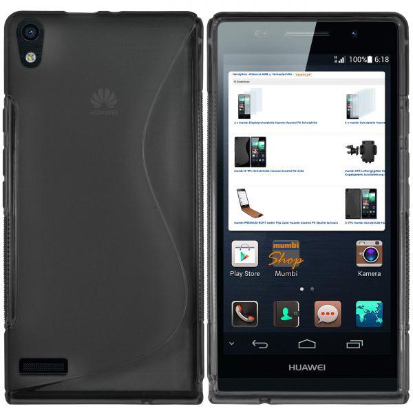 TPU Hülle S-Design transparent schwarz für Huawei Ascend P6