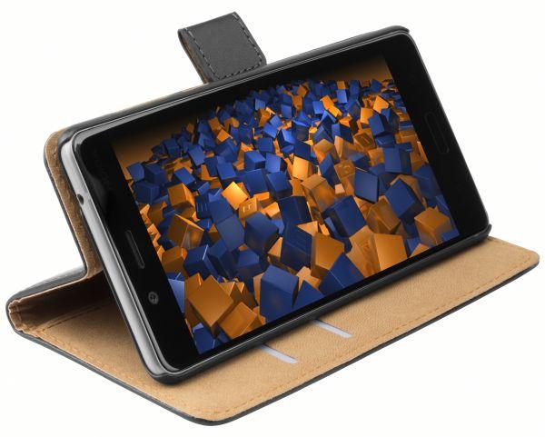 Bookstyle Tasche schwarz für Nokia 8