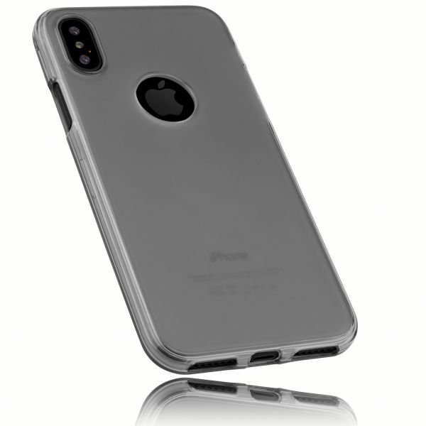TPU Hülle schwarz transparent für Apple iPhone XS / X