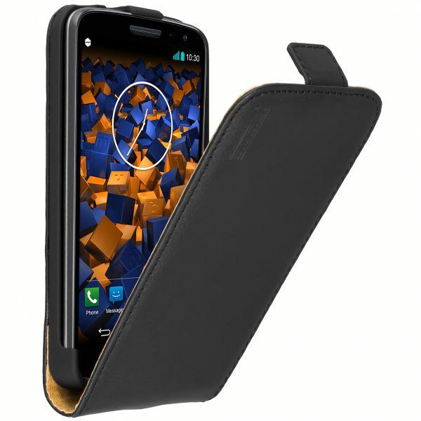 Flip Leder Case Tasche schwarz für LG G2 Mini
