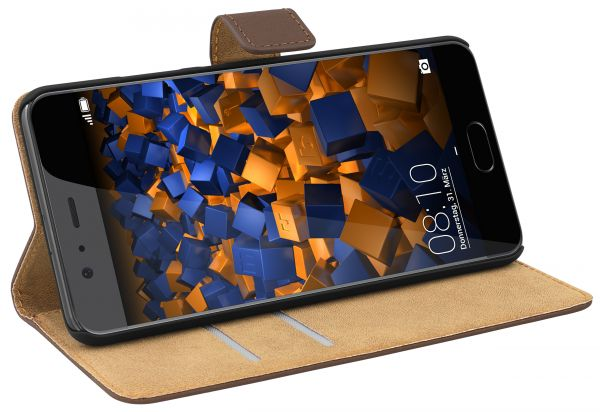 Bookstyle Tasche braun für Huawei P10 Plus