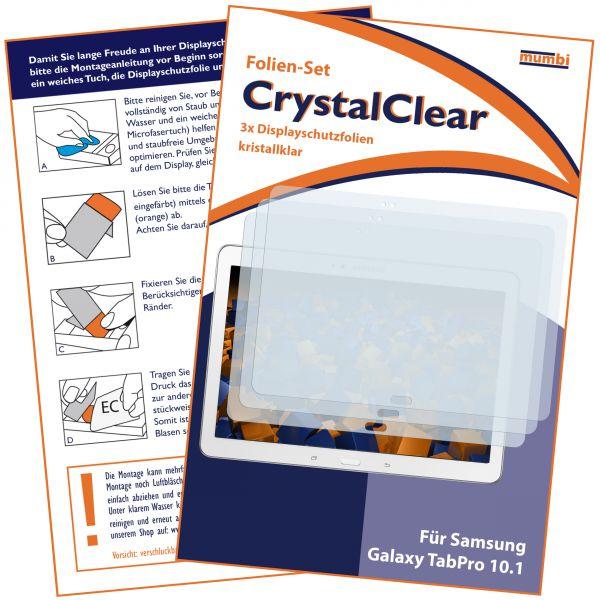 Displayschutzfolie 3 Stck. CrystalClear für Samsung Galaxy Tab Pro T520 T525 (10,1 Zoll)