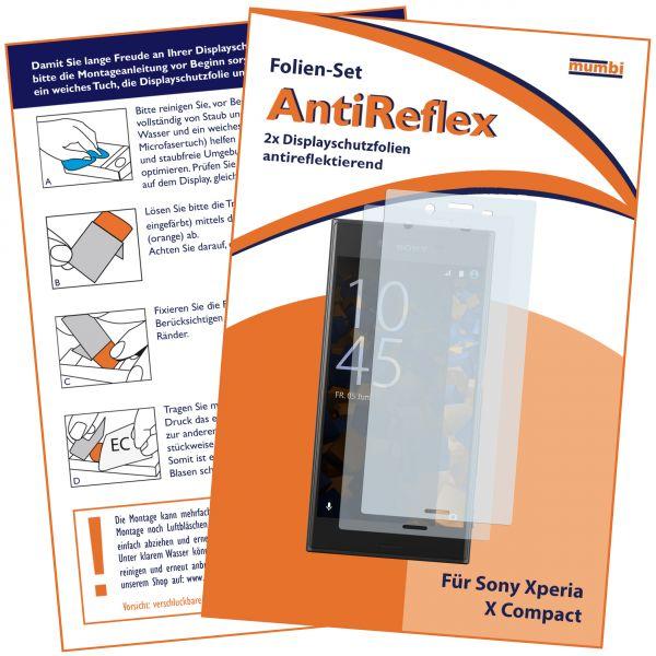 Displayschutzfolie 2 Stck. AntiReflex für Sony Xperia X Compact
