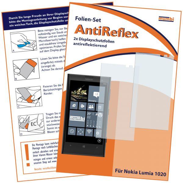 Displayschutzfolie 2 Stck. AntiReflex für Nokia Lumia 1020