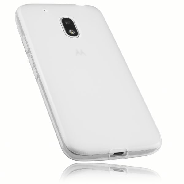 TPU Hülle weiß transparent für Lenovo Moto G4 Play