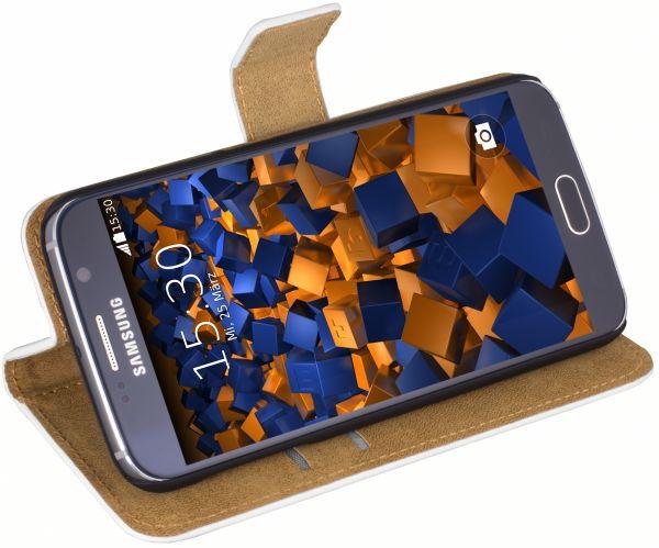Bookstyle Tasche weiß für Samsung Galaxy S6 / S6 Duos