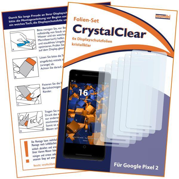 Displayschutzfolie 6 Stck. CrystalClear für Google Pixel 2