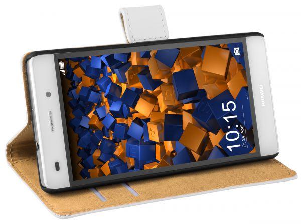 Bookstyle Tasche weiß für Huawei P8 Lite (2015)