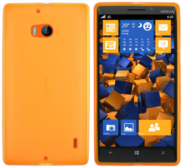 TPU Hülle orange transparent für Nokia Lumia 930