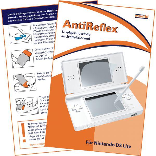 Displayschutzfolie für Bildschirm und Touchscreen AntiReflex für Nintendo DS Lite
