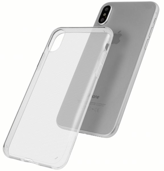 TPU Hülle Ultra Slim UV beständig transparent für Apple iPhone XS / X