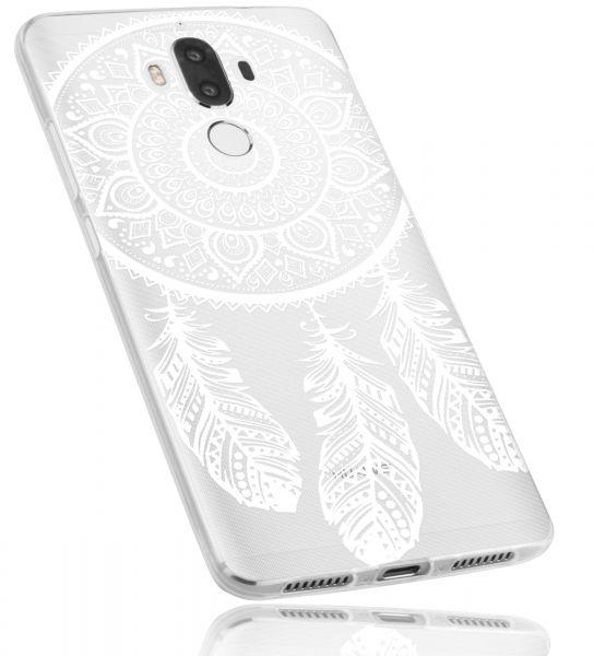 TPU Hülle Ultra Slim transparent weiß Motiv Traumfänger für Huawei Mate 9
