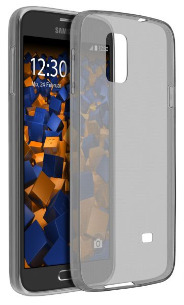 TPU Hülle Ultra Slim schwarz transparent für Samsung Galaxy S5 / S5 Neo