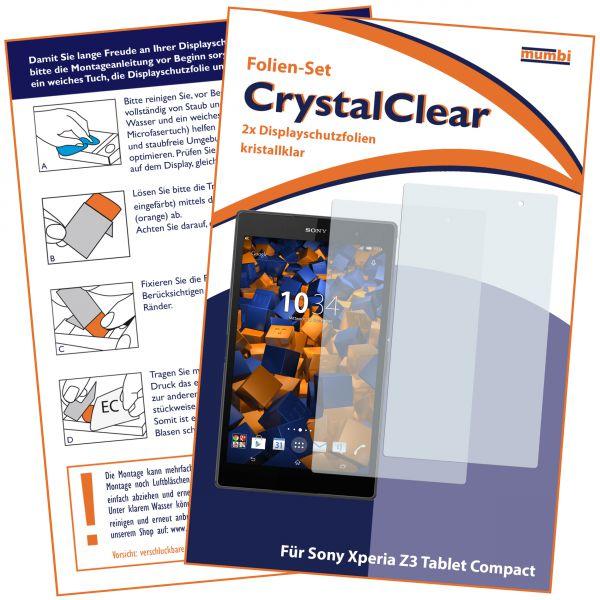 Displayschutzfolie 2 Stck. für Sony Xperia Z3 Tablet Compact (8 Zoll)