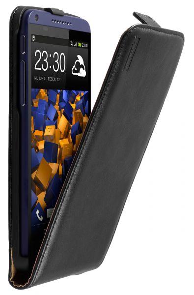 Flip Case Ledertasche schwarz für HTC Desire 816 / 816G