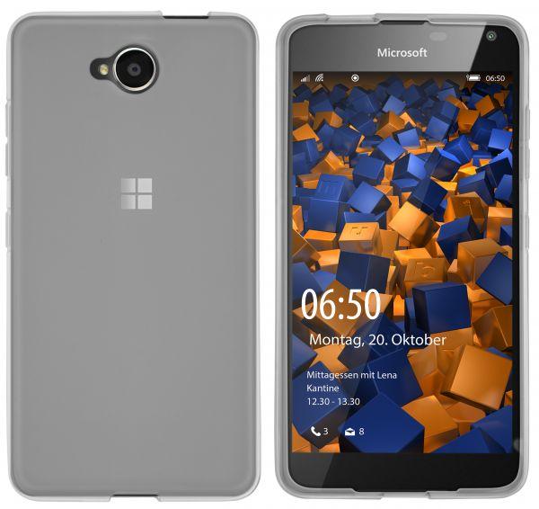 TPU Hülle schwarz transparent für Microsoft Lumia 650