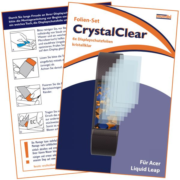 Displayschutzfolie 6 Stck. CrystalClear für Acer Liquid Leap