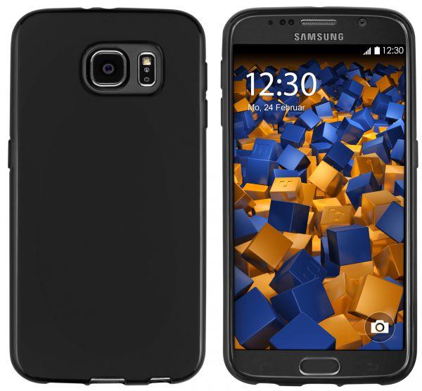 TPU Hülle (Slim - 1.2 mm) schwarz für Samsung Galaxy S6 / S6 Duos