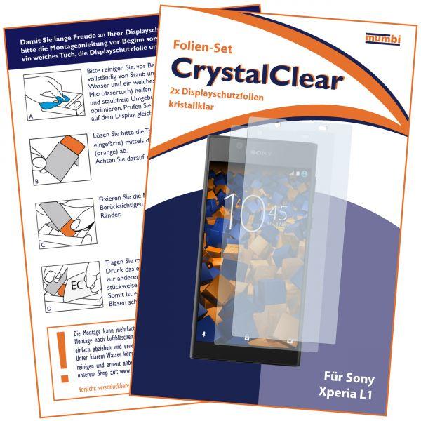 Displayschutzfolie 2 Stck. CrystalClear für Sony Xperia L1