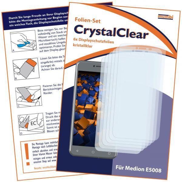 Displayschutzfolie 6 Stck. CrystalClear für Medion E5008
