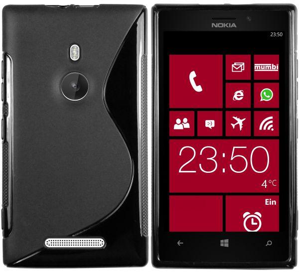 TPU Hülle S-Design schwarz für Nokia Lumia 925