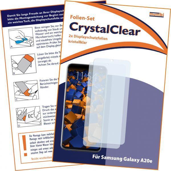 Displayschutzfolie 2 Stck. CrystalClear für Samsung Galaxy A20e