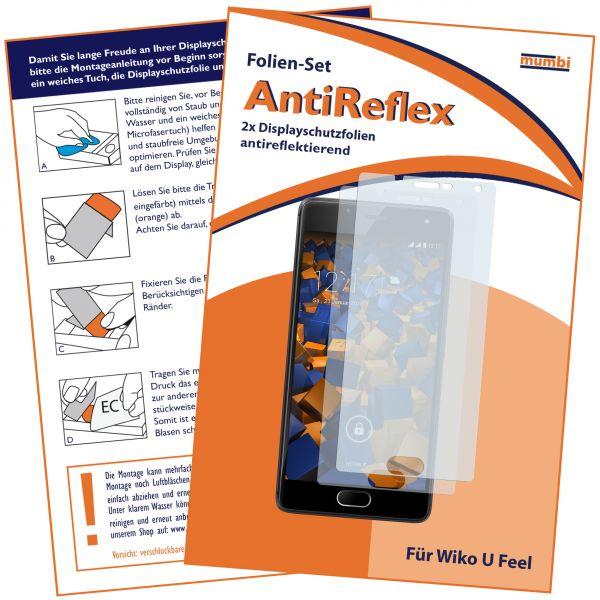 Displayschutzfolie 2 Stck AntiReflex für Wiko U Feel