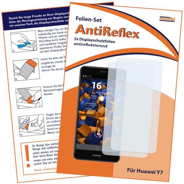 Displayschutzfolie 2 Stck. AntiReflex für Huawei Y7