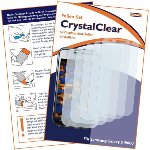 Displayschutzfolie 5 Stck. CrystalClear für Samsung Galaxy S / S Plus