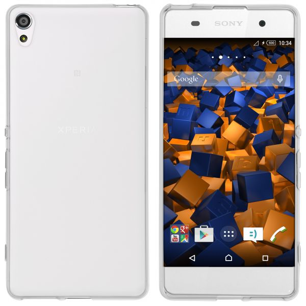 TPU Hülle weiß transparent für Sony Xperia XA