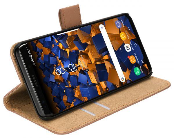 Bookstyle Tasche braun für Samsung Galaxy S9