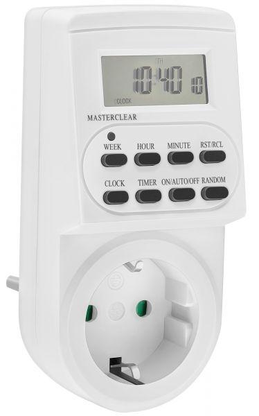 Digitale Zeitschaltuhr Indoor bis 3600W in Weiß - m-DZ3600