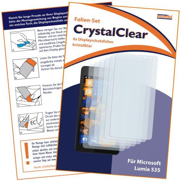 Displayschutzfolie 6 Stck. CrystalClear für Microsoft Lumia 535