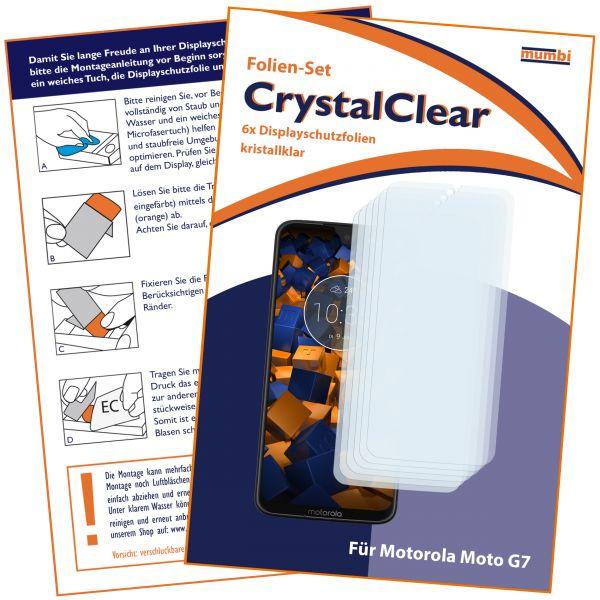 Displayschutzfolie 6 Stck. CrystalClear für Motorola Moto G7