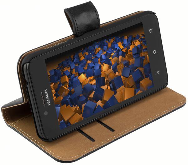 Bookstyle Tasche schwarz für Huawei Y3 II