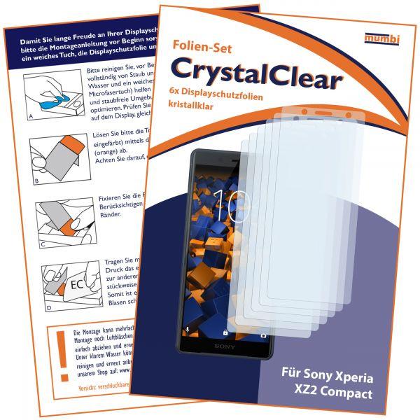 Displayschutzfolie 6 Stck. CrystalClear für Sony Xperia XZ2 Compact