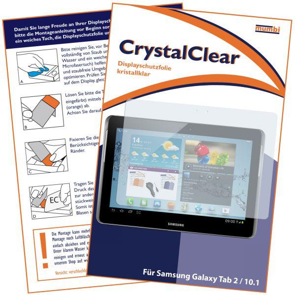 Displayschutzfolie CrystalClear für Samsung Galaxy Tab 2 10.1