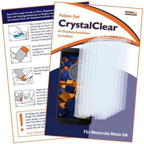 Displayschutzfolie 6 Stck. CrystalClear für Motorola Moto G6