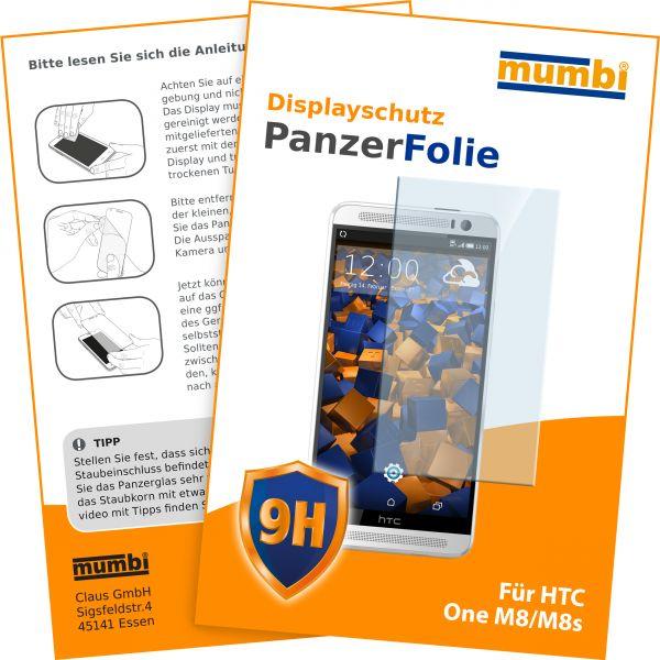 Panzerglasfolie Hartglas 9H für HTC One M8 / M8s