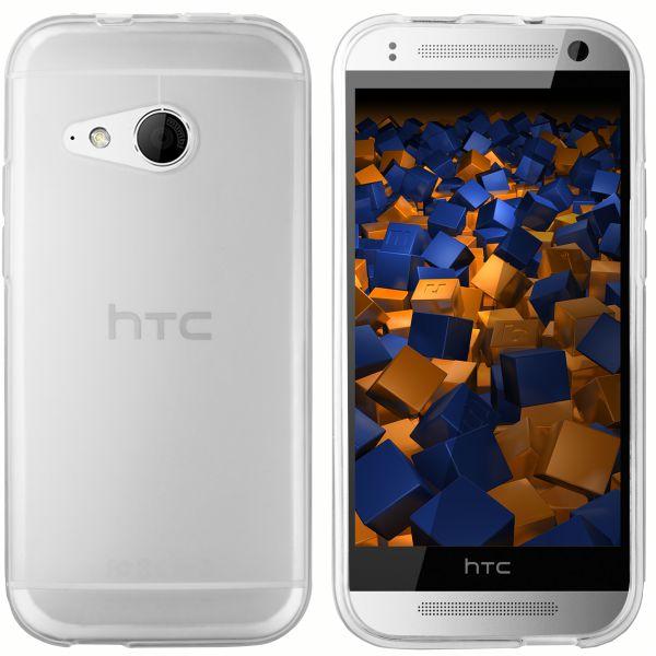 TPU Hülle transparent weiß für HTC One Mini 2