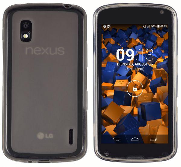 TPU Hülle transparent schwarz für LG Google Nexus 4