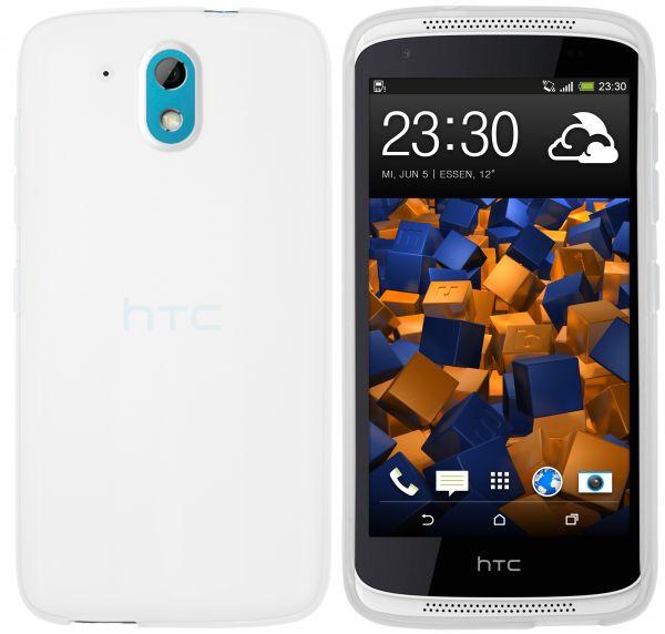TPU Hülle weiß transparent für HTC Desire 526G