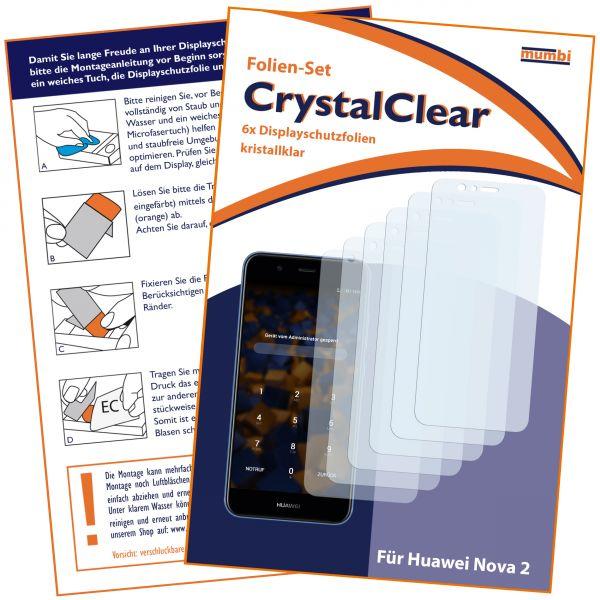 Displayschutzfolie 6 Stck. CrystalClear für Huawei Nova 2