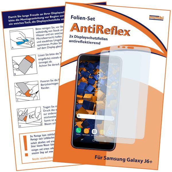 Displayschutzfolie 2 Stck. AntiReflex für Samsung Galaxy J6 Plus