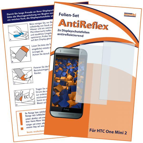 Displayschutzfolie 2 Stck. AntiReflex für HTC One Mini 2